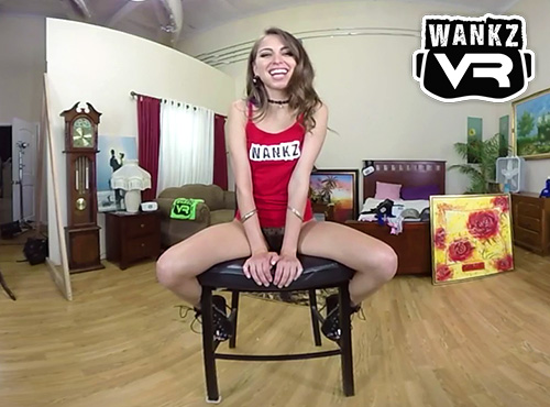 Riley Reid behind the scenes of a vr porn shoot