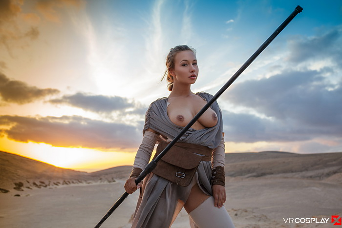 Taylor Sands in Star Wars XXX Parody VR porn scene from VRCosplayX