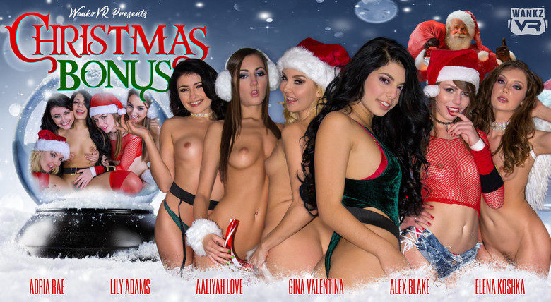 WankzVR - Christmas Bonus with Aaliyah Love, Adria Rae, Alex Blake, Elena Koshka, Gina Valentina and Lily Adams