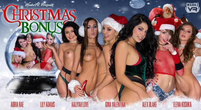 WankzVR - Christmas Bonus with Aaliyah Love, Adria Rae, Alex Blake, Elena Koshka, Gina Valentina and Lily Adams
