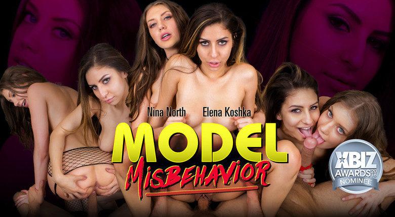 WankzVR - Model Misbehavior - Nina North and Elena Koshka