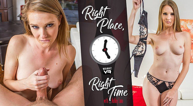 WankzVR - Right Place, Right Time ft Ashley Lane - Free Preview