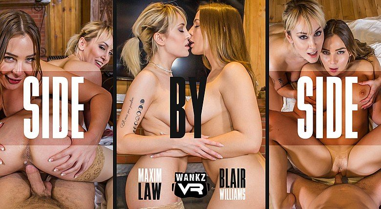 WankzVR - Side By Side ft Blair Williams & Maxim Law - Free Preview