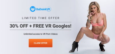 Free VR Goggles + 30% off from BadoinkVR