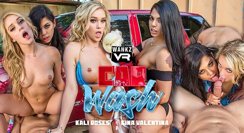 WankzVR Car Wash ft Gina Valentina & Kali Roses - Free Preview