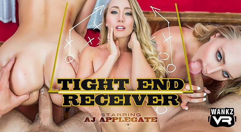 AJ Applegate in Tight End Receiver from WankzVR