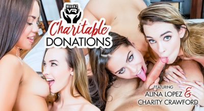 Charitable Donations - Alina Lopez and Charity Crawford - WankzVR