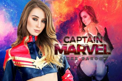 Captain Marvel VR Porn parody starring Haley Reed