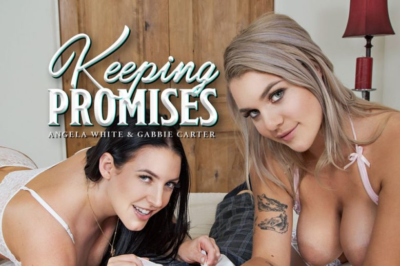 BadoinkVR - Angela White & Gabbie Carter VR Porn Threesome